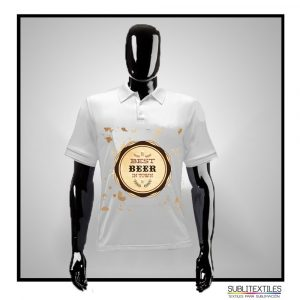 Playera Sublimable Tipo Polo para hombre