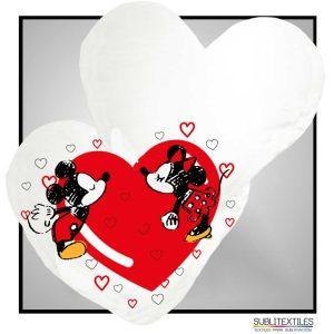 Cojines en forma de corazon