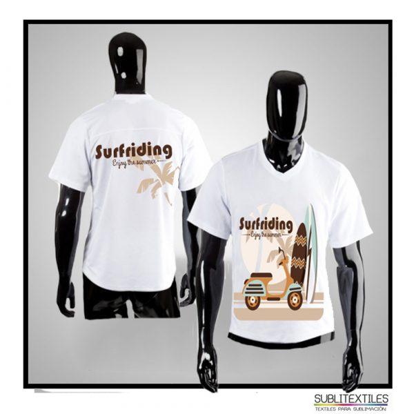 Camiseta-Playera Sublimable Dry Fit para Hombre
