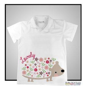 Camiseta Sublimable Tipo Polo para niño/niña