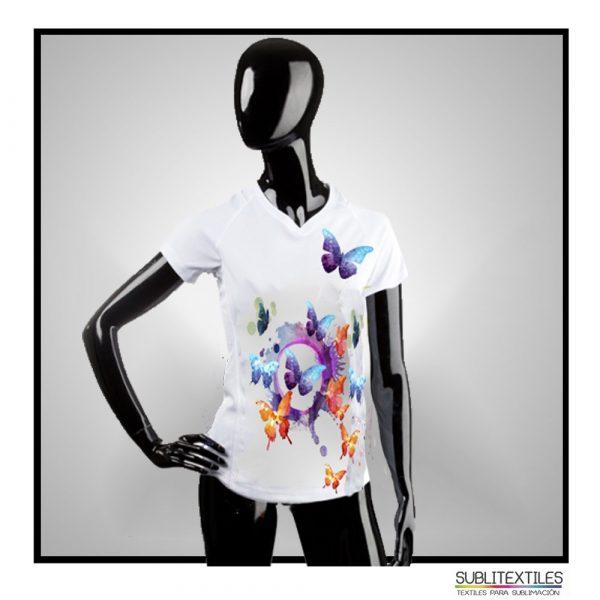Camiseta-Playera Sublimable Dry Fit para Mujer