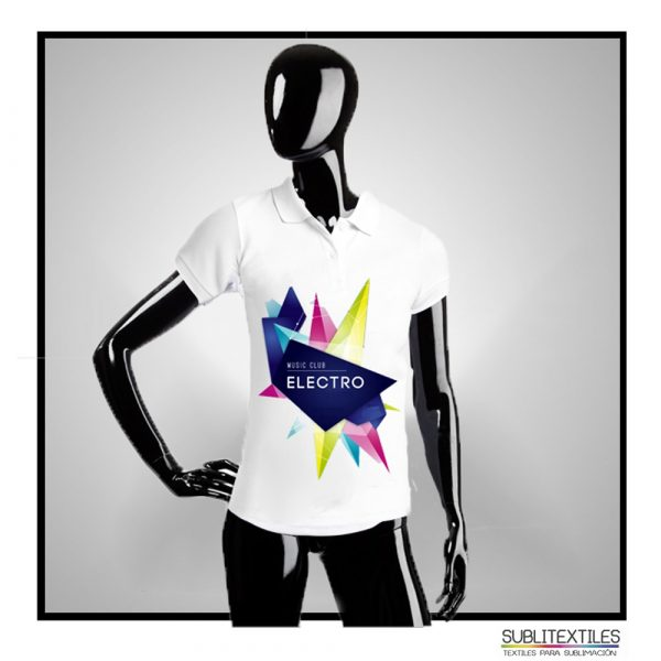 Playera Sublimable Tipo Polo para Mujer