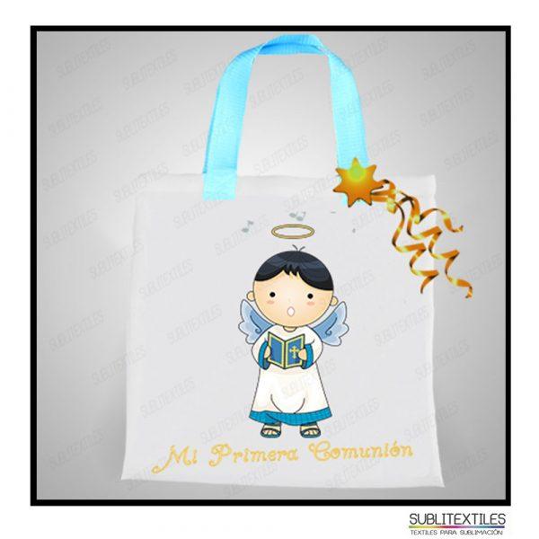 Bolsa Chica Sublimable con Asa Azul